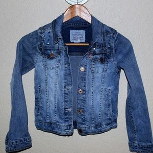 Kid Levis Jean Studded Jacket